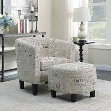 100 Accent Chairs With Arms And Ottoman Amazoncom Belleze Tub Chair Curved Back French Print Script