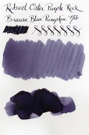 Blue Pumpkin Nib by Ink Sample Of Robert Oster Signature U2013 Purple Rock
