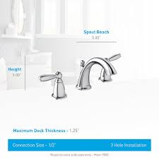 Moen Ashville Sink Faucet by Moen Brantford Two Handle Low Arc Widespread Bathroom Faucet