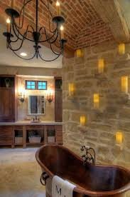 A Custom Bell Chandelier With Laura Lee Designs Sconces In The Master Bath