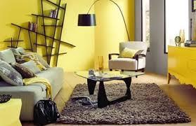 gelbe wand farbgestaltung wohnzimmer freshouse