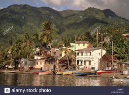 100 J Mountain St Lucia Waterfront Houses And The Mt Gimie Range From Soufriere Bay