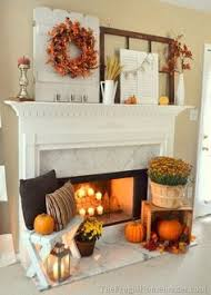 Decorate Your Fireplace Mantel With Fall Home Decor In Warm Colors Like Orange