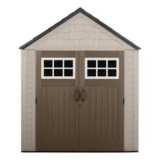 Plastic Storage Sheds At Menards by Rubbermaid Big Max 7 Ft X 7 Ft Storage Shed 1887154 The Home Depot