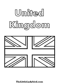 UK Flag Coloring Page