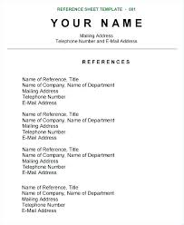 Format For References On A Resume Reference Examples Upon Request