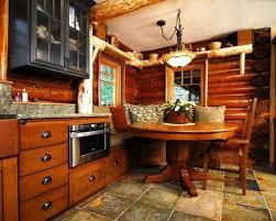 Rustic Log Cabin Kitchen Ideas by Log Cabin Floor Ideas Houzz