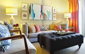 brilliant living room art work using canvas oil paintings and wood