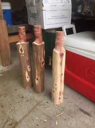knotted chunk of free wood into log stool hometalk
