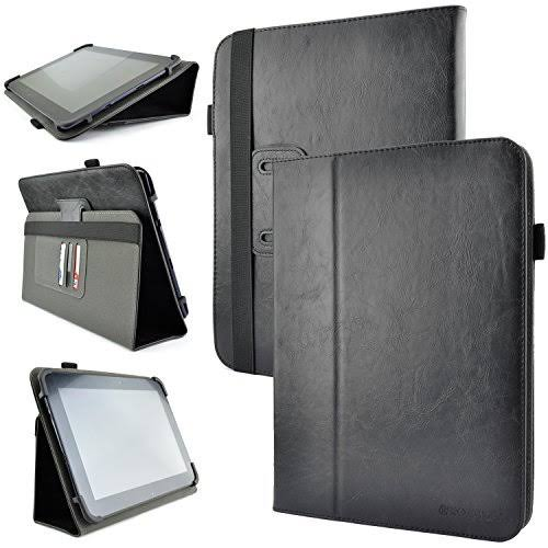 Kozmicc Case Cover for Tablet with Adjustable Stand Folio - Black