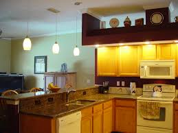 warm kitchen with warm lighting and led kitchen ceiling lighting