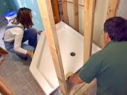 how to install a corner shower how tos diy