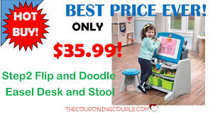 Step2 Art Easel Desk by Top Toy Step2 Flip And Doodle Easel Desk And Stool Only 35 99