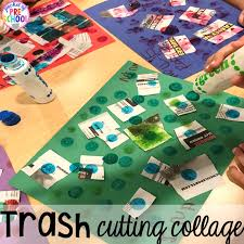 Trash Cutting Collage Community Helper Themed Activities And Centers For Preschool Pre K