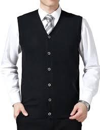 men u0027s solid neck casual button front sweater vest argyle
