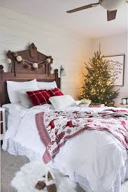 A Lit Up Christmas Tree With No Decor Is Great Idea For Any Bedroom