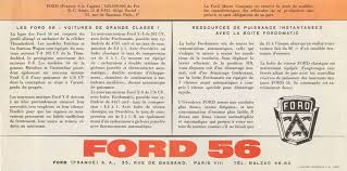ford siege social 1956 ford brochure