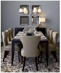 Ksek Sasha Dining Chair Espresso Modern Table And Beveled Mirrors