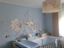 deco murale chambre deco murale chambre bebe mur bleu pale turquoise avec une biche
