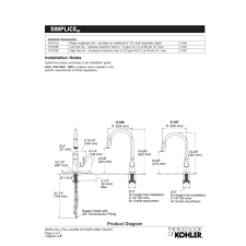 Kohler Coralais Kitchen Faucet Diagram by Kohler K 596 Cp Simplice Polished Chrome Pullout Spray Kitchen