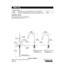 2 Handle Kitchen Faucet Diagram by Kohler K 596 Cp Simplice Polished Chrome Pullout Spray Kitchen