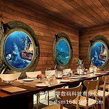 gouzi große wandbilder 3d stereoskopische tapete piraten