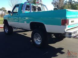 100 Classic Chevrolet Trucks For Sale Chevy Silverado Square Body 4x4 Old School 3 Lift Retro Color