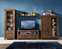 gent 1 wohnwand anbauwand set wohnzimmerkombination wohnzimmer akazie dunkel günstig möbel küchen büromöbel kaufen froschkönig24