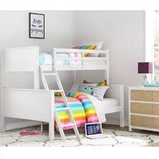 Bunk Beds At Walmart by Dorel Home Your Zone Twin Over Full Wood Bunk Bed White Walmart Com