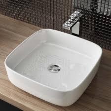aufsatzwaschbecken waschschale keramik bad wc waschtisch bxtxh ca 38 5x38 5x13 5cm ws108