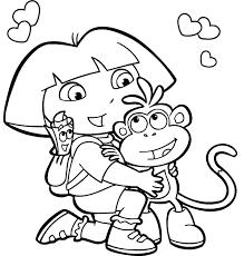 Superb Dora Coloring Pages Printable