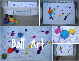 Happy Homemaker Me Summer Sensory Fun Series Ball Art