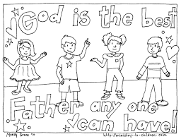 Christian Fathers Day Coloring Pages Within Free Printable