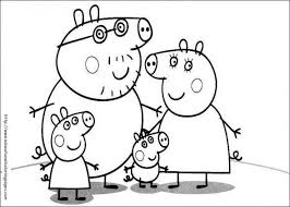 Peppa Pig Printable Colouring Pages Kids