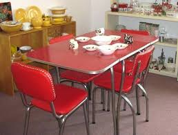 Full Size Of Wood Dinette Tables And Chairs Table With Rolling Vintage Chrome Kitchen Chair Design