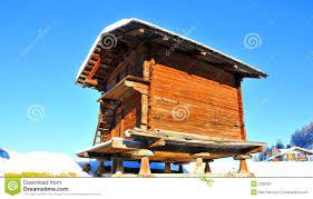 100 Log Cabins Switzerland Swiss Cabin For Storing Grain Stock Image Image Of Season