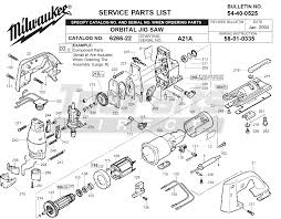 Mk 101 Tile Saw Motor by Milwaukee 6266 22 A21a Orbital Jig Saw Parts Tool Parts Direct
