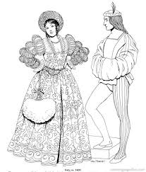 Were Studying The Renaissance And Reformation This Year In History Costumes Free Printable Coloring PagesAdult