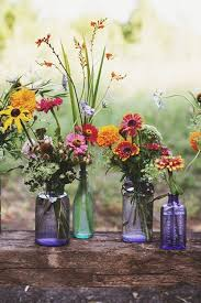 Colorful Floral Vases For Wedding Centerpieces