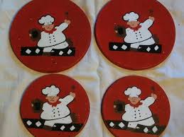 Fat Chef Bistro Kitchen Curtains by Fat Chef Burner Covers Set Of 4 Red Electric Stove