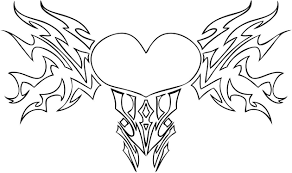 Free Coloring Pages Hearts And Flowers 2