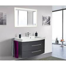 badezimmer waschplatz set 100cm luino 02 anthrazit seidenglanz