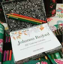 Johanna Basford 2017 Coloring Day To Calendar Flip Through