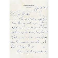 Jacqueline Kennedy Autograph Letter Signed As First Lady Autograph