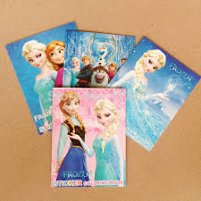 Free Shipping Frozen Cartoon Coloring Books With Stickers Drawing Book Children Gift In Toys