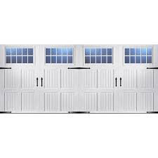 Shop Pella Carriage House 192 in x 84 in Insulated White Double