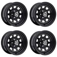 100 5 Lug Chevy Truck Rims Set 4 1 Vision 84 D Window Black Wheels 1x8 6x 19mm GMC