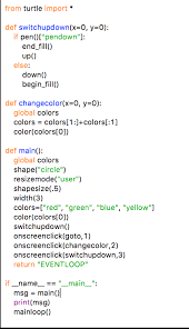 Question Python 36 Make The Following Code Draw A Line While Cursor Is Moving From Turtle Import