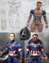 Captain America Age Of Ultron Marvel Select Custom Action Figure