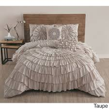 Echo Jaipur Bedding by Azalee Romantic Ruffled 5 Pc Comforter Bedding Set Bed Sets